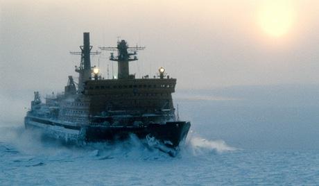 """Атомный ледокол """"Арктика"""" во льдах Северного Ледовитого океана"""