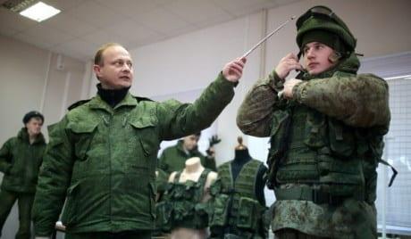 Испытания боевой экипировки военнослужащих Сухопутных войск ВС РФ