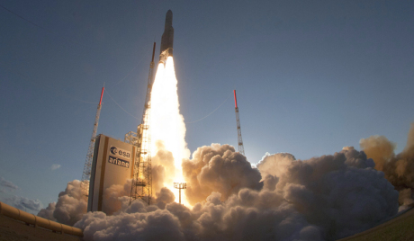 Ariane 5 rocket lifts off from in Kourou