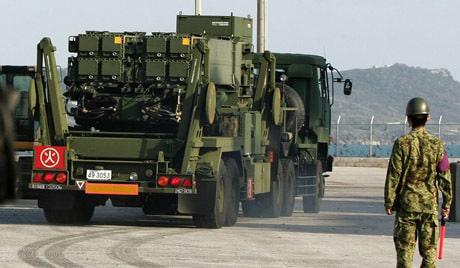 PAC-3 missile interceptors arrive at Okinawa Island