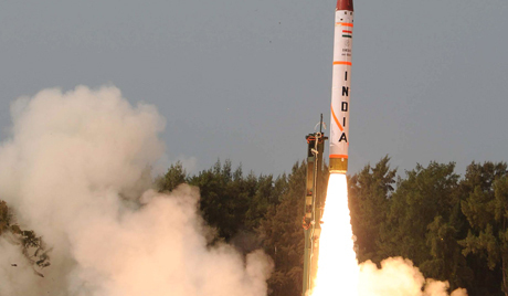 Indian missile system Agni 4 launch