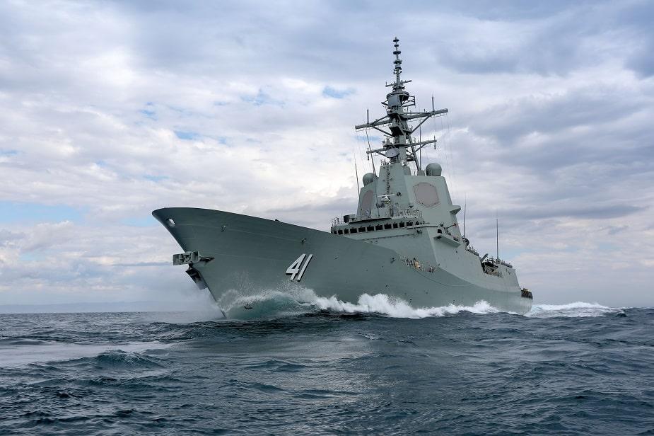 "Photo of مدمرة الدفاع الجوي ""بريزبان"" تدخل للخدمة في القوات البحرية الملكية الاسترالية"