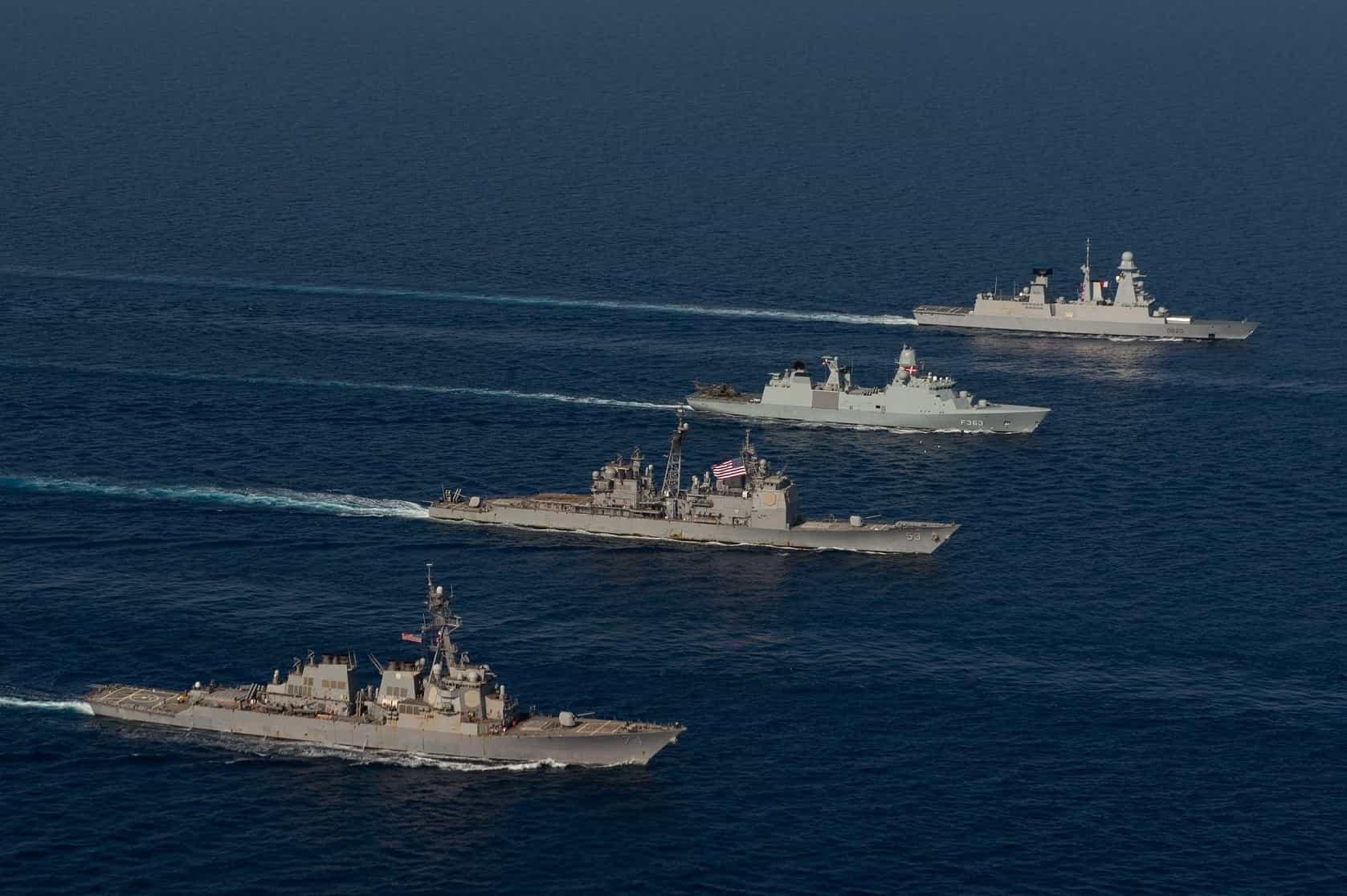 Photo of مجموعات الإضراب الأمريكية والفرنسية تشارك في التدريبات البحرية في البحر الأحمر