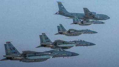 Photo of مقاتلات سعودية وأمريكية فوق الخليج