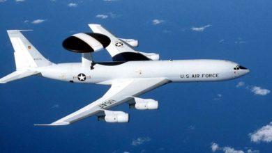 "Photo of إحتراق طائرة التجسس العسكرية الأمريكية ""إي-3 سينتري"""