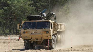"""Photo of الجيش الأمريكي يعرض نظام توزيع الألغام الجديد """"البركان"""""""