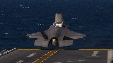 Photo of فيديو مثير لإطلاق F-35 من على متن المدمرة يو إس إس دبور
