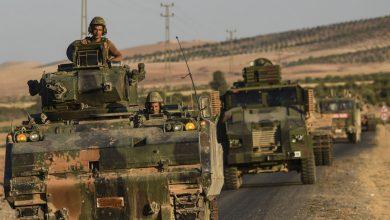 Photo of آليات عسكرية تركية محملة بالسلاح تدخل خان شيخون في إدلب