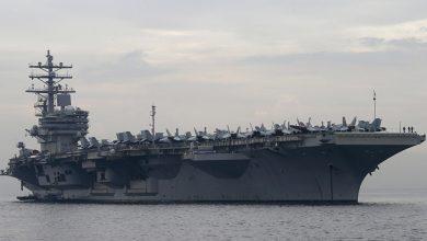 Photo of حاملة الطائرات النووية رونالد ريغان تتجه لبحر الصين