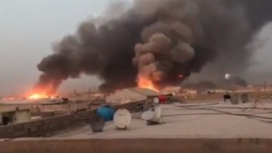 Photo of صور جوية توكد قصف إسرائيل لمعسكر الصقر في بغداد
