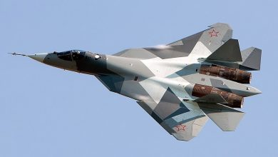 """Photo of تحليق مذهل لمقاتلة الشبح """"سو-57""""..فيديو"""