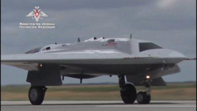 """Photo of فيديو لأول رحلة للطائرة المسيرة """"أوخوتنيك"""""""