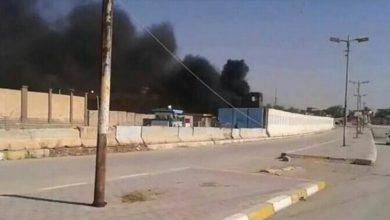 Photo of طائرة مسيرة وراء حريق مخزن أسلحة للحشد في العراق