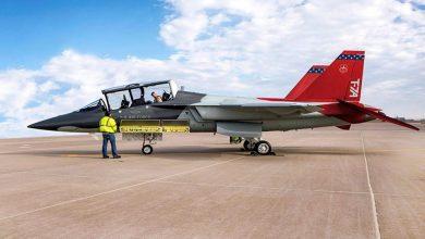 Photo of لقطات رائعة من اختبارات أحدث نظام تدريب طيار T-7A