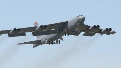 Photo of رصد القاذفة B-52  بالقرب من قاعدة عسكرية روسية في سوريا