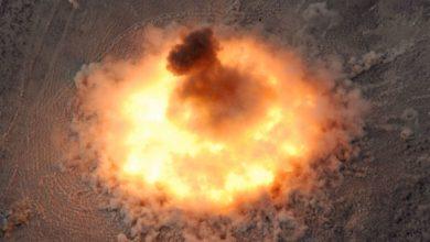 Photo of إنفجار مذهل لقنبلة مجهولة في سوريا ..فيديو