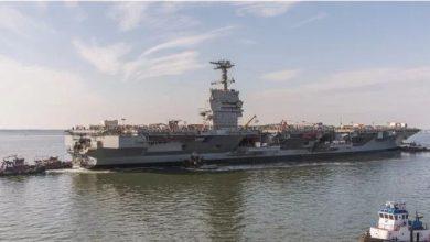 Photo of إطلاق أحدث حاملة طائرات تعمل بالطاقة النووية للبحرية الأمريكية..فيديو