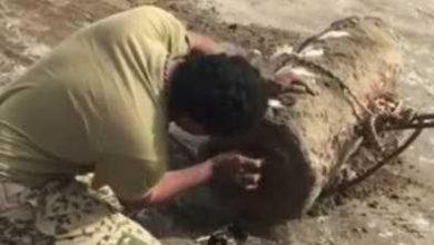 Photo of تفكيك رأس صاروخي حوله الحوثيون للغم بالحديدة..فيديو