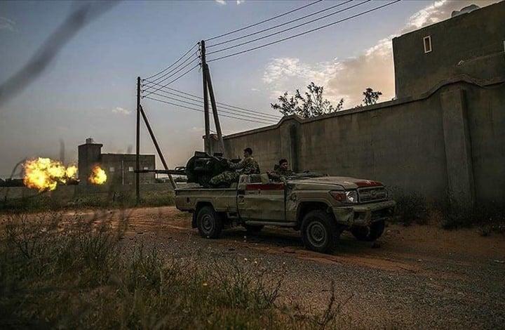 """قاعدة """"الوطية"""" تسقط بالكامل بيد الجيش الليبي التابع للوفاق"""