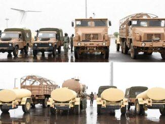 الجزائر تقدم دعم عسكري لمالي (شاحنات ومركبات عسكرية)