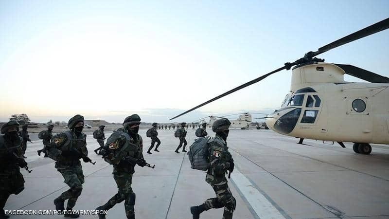 مناورات عسكرية مصرية في الاتجاه الاستراتيجي الغربي