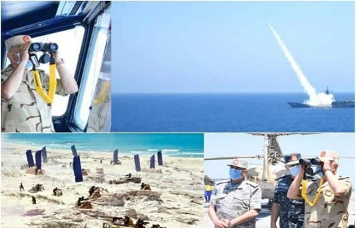"""إحدى رسائل مناورات """"حسم 2020"""" المصرية..الجيش جاهز وأمن ليبيا من أمننا"""