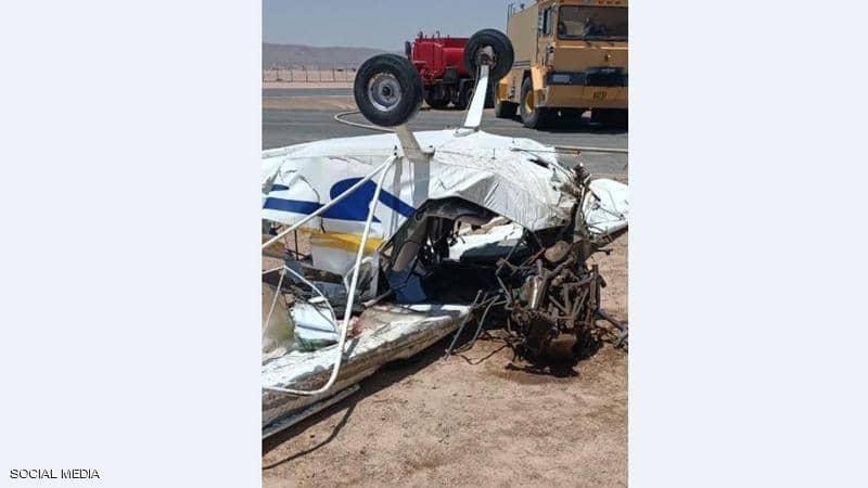 سقوط طائرة تدريب مصرية ومصرع قائديها