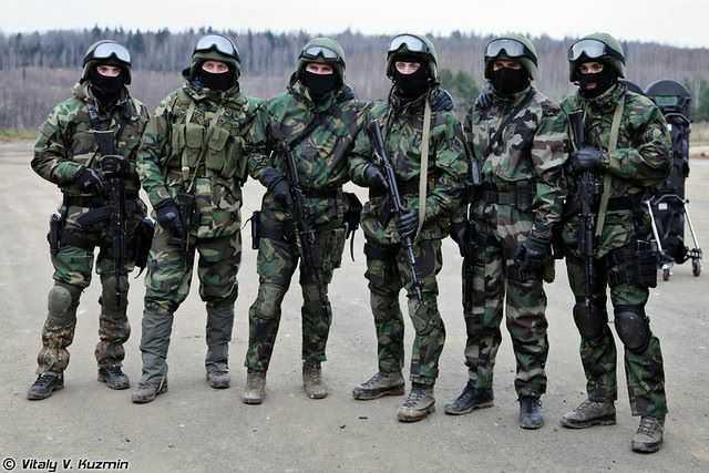 شاهد القدرات القتالية العالية للقوات الخاصة الروسية .