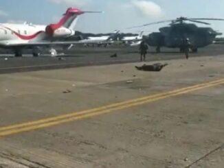 فيديو مرعب يظهر هبوط الطائرة المكسيكية من طراز Mi-17