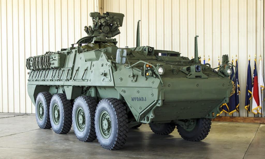Stryker A1 مدرعة بنظام سلاح عيار متوسط 30 ملم جاهزة للإنتاج