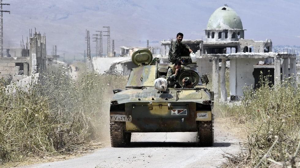 الجيش التركي يقصف مواقع للجيش السوري في منطقة سراقب في إدلب