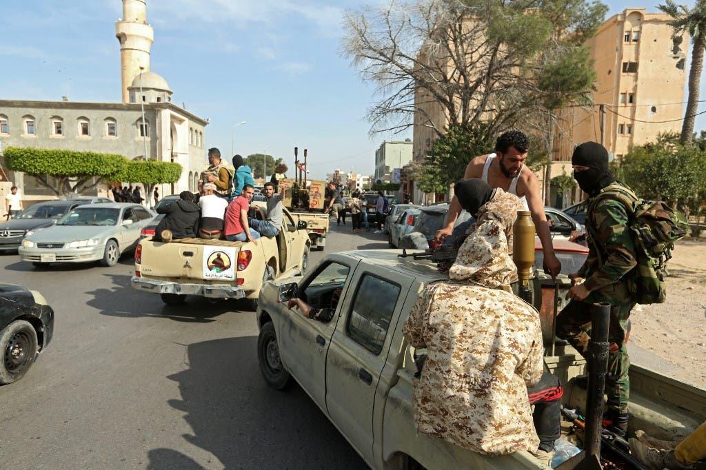 إشتباكات عنيفة بين فصائل مليشيات الوفاق في ترهونة