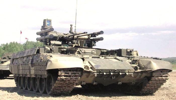 فرق الدبابات الروسية تستلم مركبات دعم دبابات المدمرTerminator