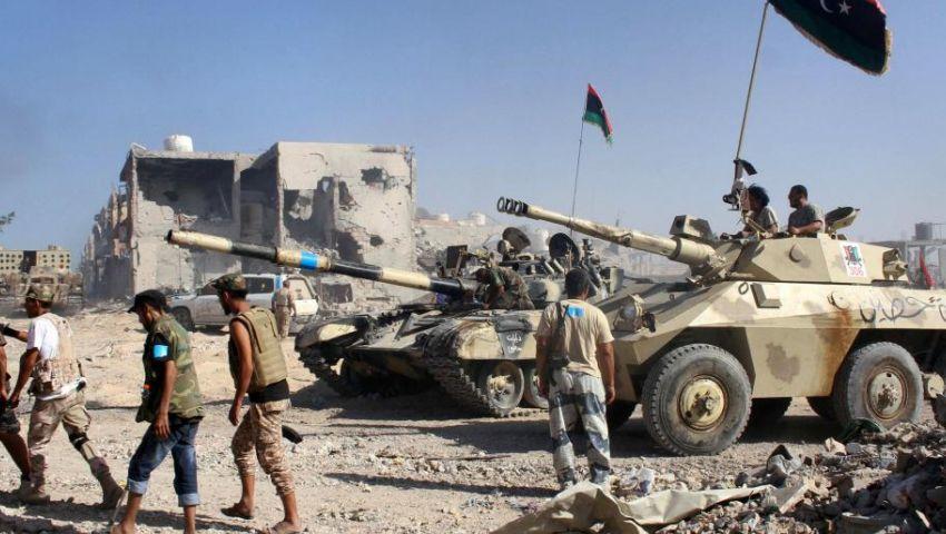 رصد حشد كبير من الميليشيات والمقاتلين شرق مصراته والجيش الليبي يحذر