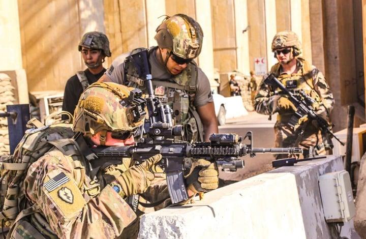 هجوم صاروخي على قاعدة جوية تضم أمريكيين شمال العراق
