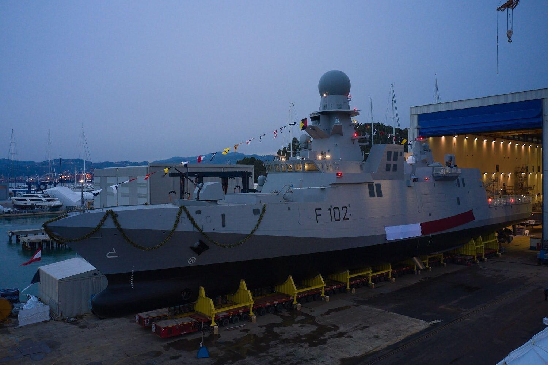 قطر تدشن سفينة حربية جديدة في إيطاليا.. صور