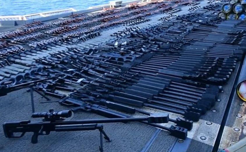 كشف معلومات بشأن الأسلحة التي تم ضبطها في بحر العرب