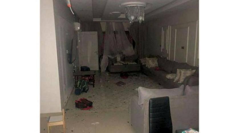 شظايا مسيرة حوثية أسقطتها الدفاعات السعودية تلحق بعض الضرر في منازل جازان