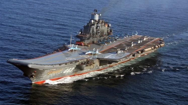 """عالمي: بالفيديو.. إبحار لحاملة الطائرات الروسية """"الأميرال كوزنيتسوف"""" إصلاحها"""