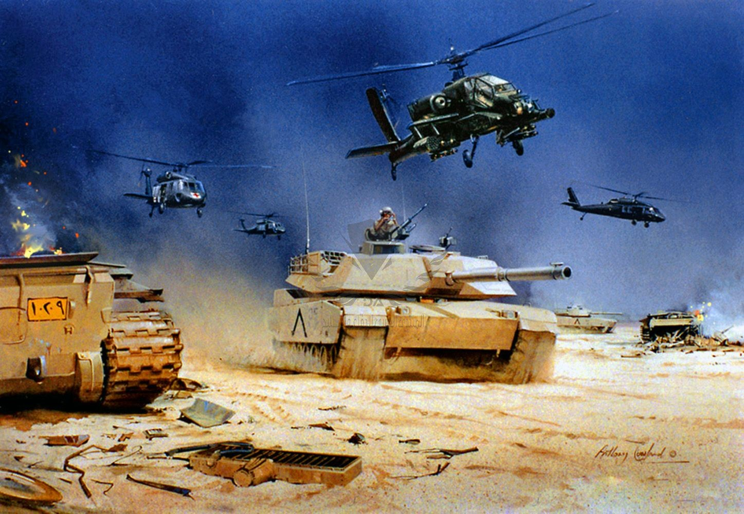 Apache & M1 Abrams, Operation Desert Storm.jpg