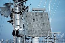 220px-Radar_antennas_on_USS_Theodore_Roosevelt_CVN-71.jpg